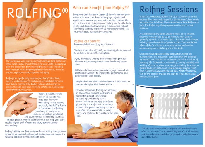 Rolfing A4 brochure